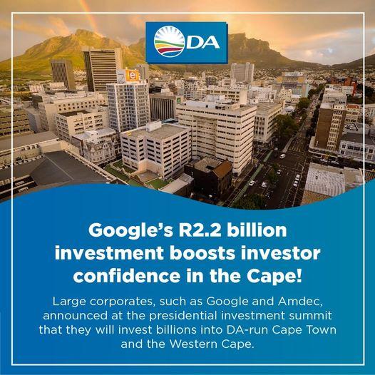 DA run Western Cape attracts global investments