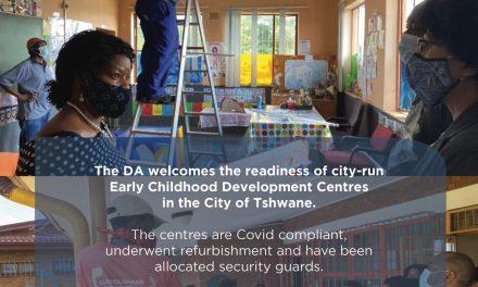 Tshwane's childhood development centres ready to open