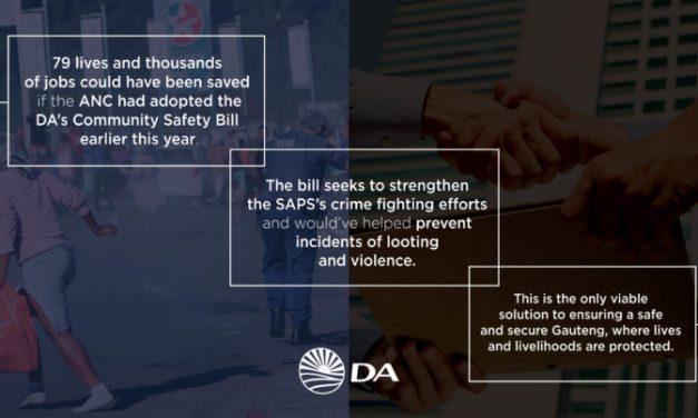 Support the DA's Community Safety Bill