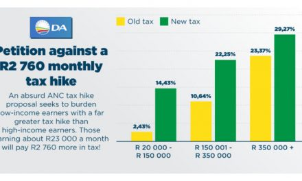 Petition against a R2,760 monthly tax hike