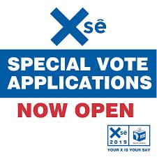 Special vote online application